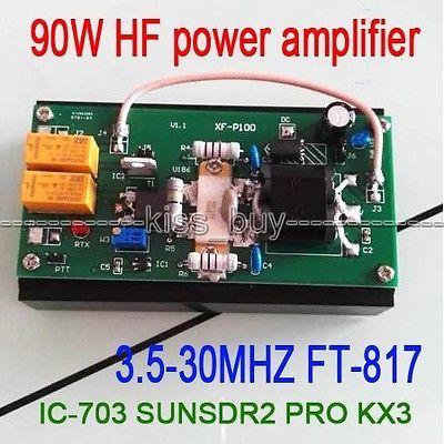 Amplificador de potência do hf de 2016 90 w para o rádio do presunto do transceptor pro kx3 qrp de ft 817 IC 703