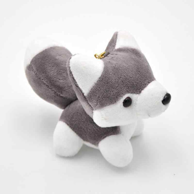 Husky Plush ตุ๊กตายุโรปและสไตล์อเมริกันปลอดภัยธูป Mini รูปสุนัขตุ๊กตาของเล่นโลหะ Key แหวนจี้