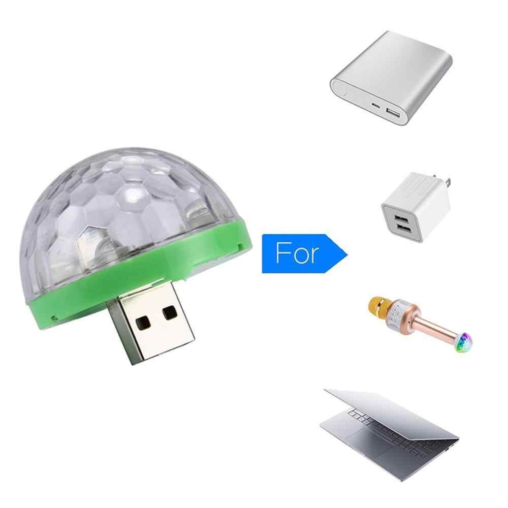 USB зарядка диско светильник светодиодный вечерние светильник s мини хрустальный магический шар красочный эффект сценический светильник для дома вечерние Декор на новый год