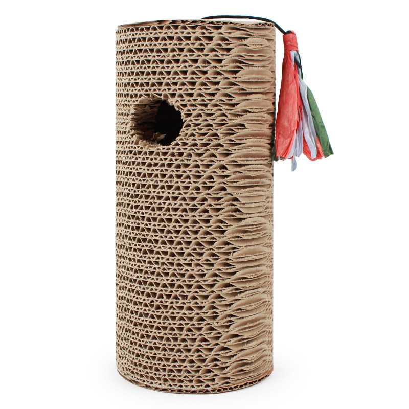 New Cat toy for Cat Climbing Frame cats scratching post toys Corrugated Paper Flat Sisal Toy for cat sharpen claw funny in Furniture Scratchers from Home Garden