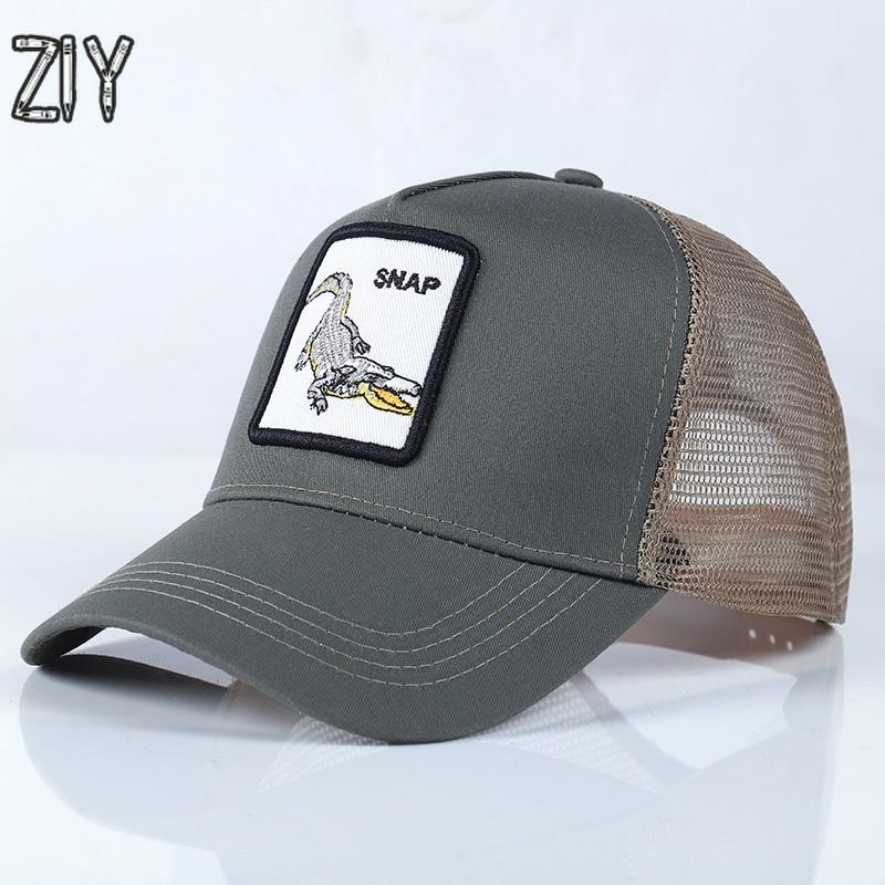 06cc6598367 Embroidery Animal Baseball Cap Men Women Unisex Sun Hat Mesh Breathable  Snapback Wolf Caps Hip Hop