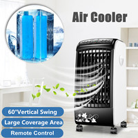 Portable Air Cooler Fan Portable Handle Desk Electric Fan Mini Air Conditioner Device Cool Soothing Wind Home With RemoteControl