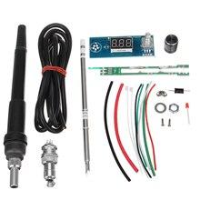 뜨거운 diy 전기 단위 고품질 기본적인 능력 실제적인 디지털 방식으로 납땜 인두 역 온도 관제사 장비 t12 손잡이