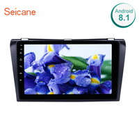 Seicane Bluetooth GPS Navigation 2din Android 8.1/7.1 Car Radio with for 2004 2009 Mazda 3 support WIFI USB Backup camera DVR