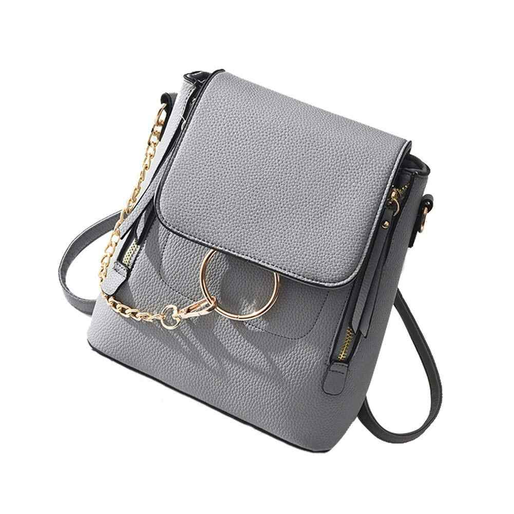 c93365d6da81 LJL Fashion Women Crossbody Backpack Purse Small Pu Leather Shoulder Bag  Ladies Cute Chain Satchel Bag