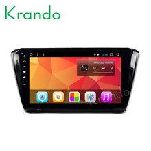 "Krando Android 8.1 10.1"" Big Screen Full touch car Multimedia system radio player for Skoda Superb navigation gps wifi bluetooth(China)"