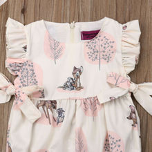 Deer Flower Romper Jumpsuit for newborn infant kid
