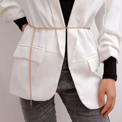 Hot Women Retro Metal Waist Chain Belt Dress Waistband Body Chain Belts 2019 New Fashion Ladies Outwear