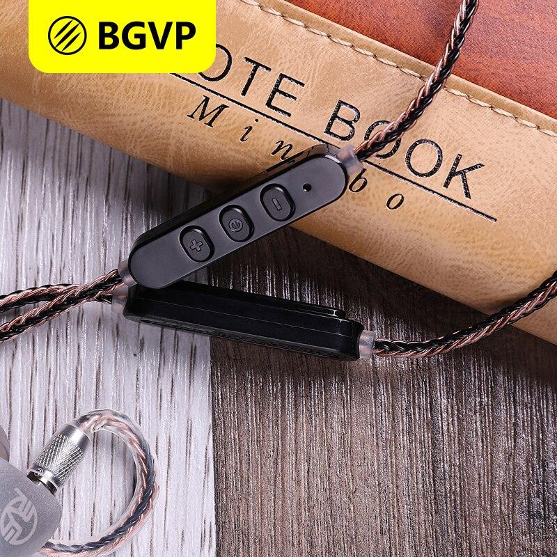 BGVP M1 aptX Bluetooth модуль V4.2 кабель наушников для MMCX гарнитуры BGVP DN1 DM5 DS1 съемный кабель HiFi кабель с микрофоном