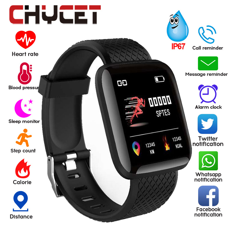 Pedometer Monitor Watch Fitness-Tracker Smart-Band Blood-Pressure-Measurement Waterproof