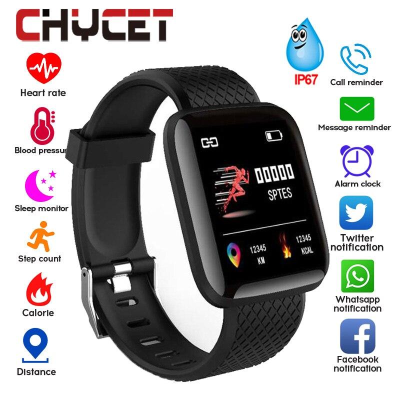 Bracelet intelligent mesure de la pression artérielle étanche Fitness Tracker montre moniteur de fréquence cardiaque podomètre bande intelligente femmes hommes
