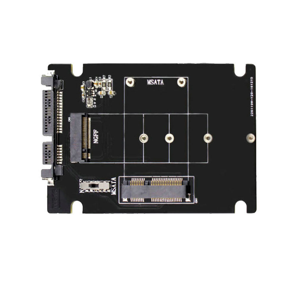 S107-RTK Adapter Card Expansion Card All 2 In 1 MSATA To SATA NGFF(M.2) To SATA III SATA3 Converter Solid State Disk For Desktop