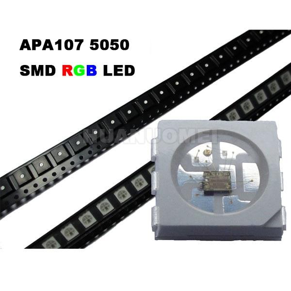 APA107 LED Chip 5050 SMD RGB APA102 Chip 6pins SMD 5050 built in APA107 IC APA102