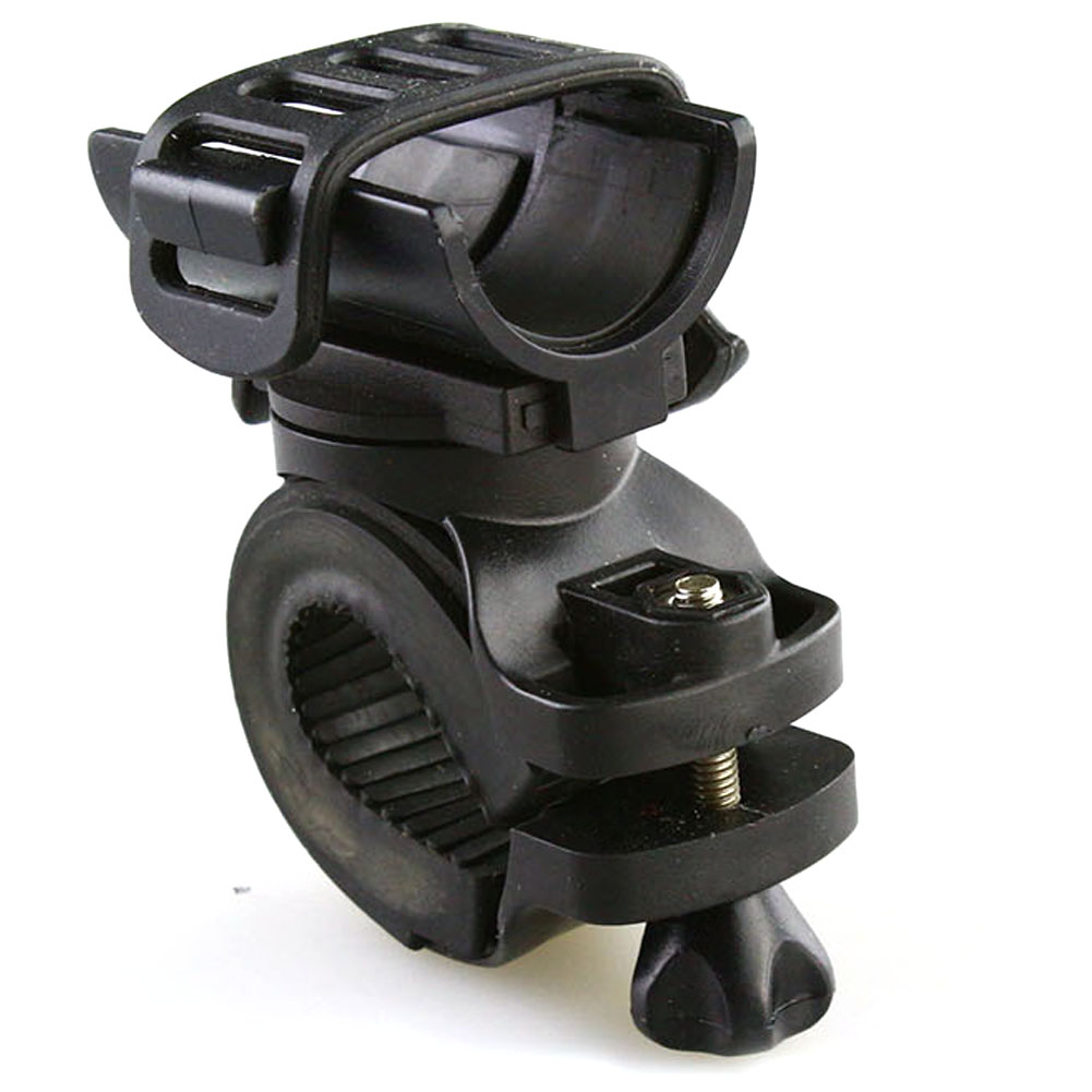 Aggressive 360 Swivel Bicycle Cycle Bike Front Torch Mount Led Light Holder Clip Rubber For 28-40mm Diameter Flashlight Holder Harmonious Colors Sports & Entertainment
