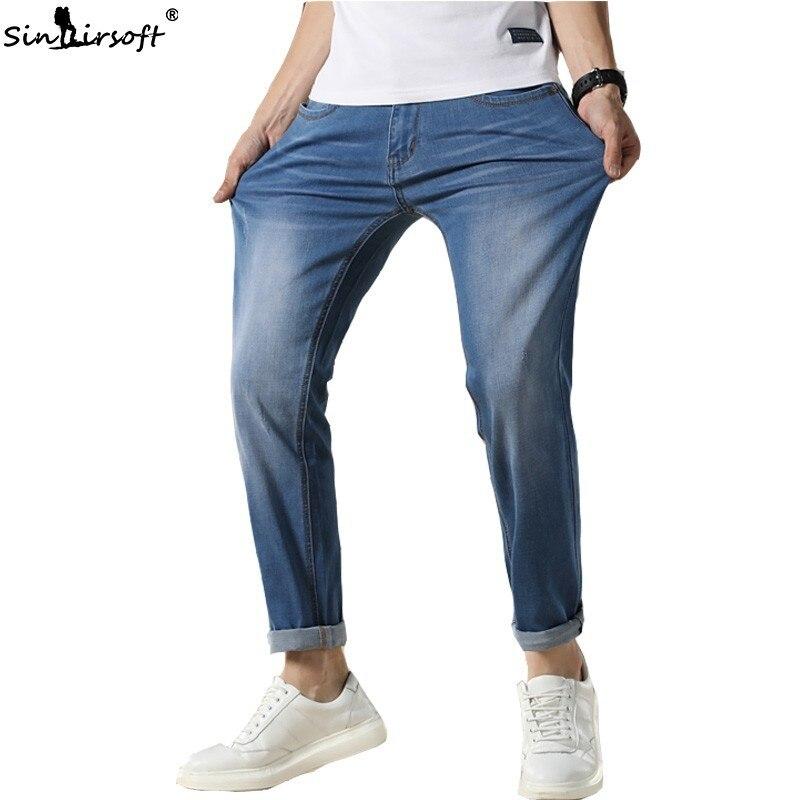 2019 Nuovi Jeans Degli Uomini Di Modo Classico Nero Del Progettista Del Denim Skinny Jeans Più Il Formato 30-48 Degli Uomini Casual Di Alta Qualità Slim Fit Pantaloni