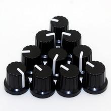Новинка! Лидер продаж 10 шт. 6 мм диаметр отверстия вала пластиковые резьбовые накатанные ручки потенциометра колпачки