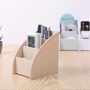 Image 4 - Three Lattices Storage Box Simple Plastic Cosmetic Box Trapezoidal Desktop Finishing Box for Bedroom Study Room Living Room
