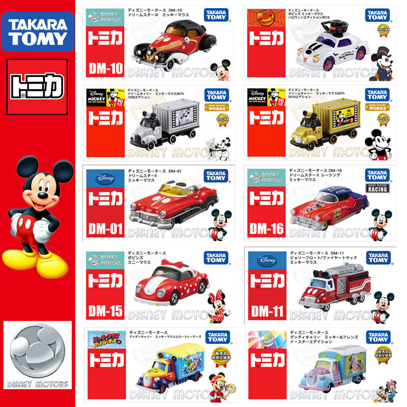 TOMICA Disney Motors Mickey Minnie Series Movie & TV JAPAN TAKARA TOMY Model Collection Car Vehicles Kids Toys Limited Gift