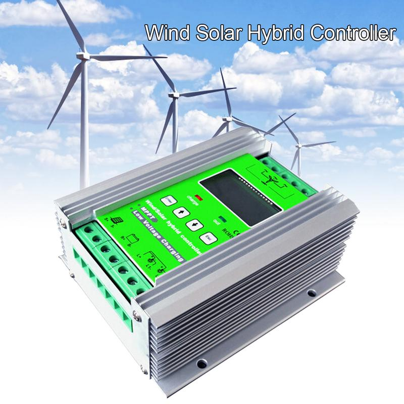 1200W MPPT Wind Solar Hybrid Charge Controller 24V 40A For 800W Wind 400W Solar With Booster And Free Dump Load