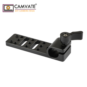 Image 4 - Extensão de camvate cheeseplate com padrão 15mm única haste braçadeira para lanterna led/monitor/microfone/led luz de montagem