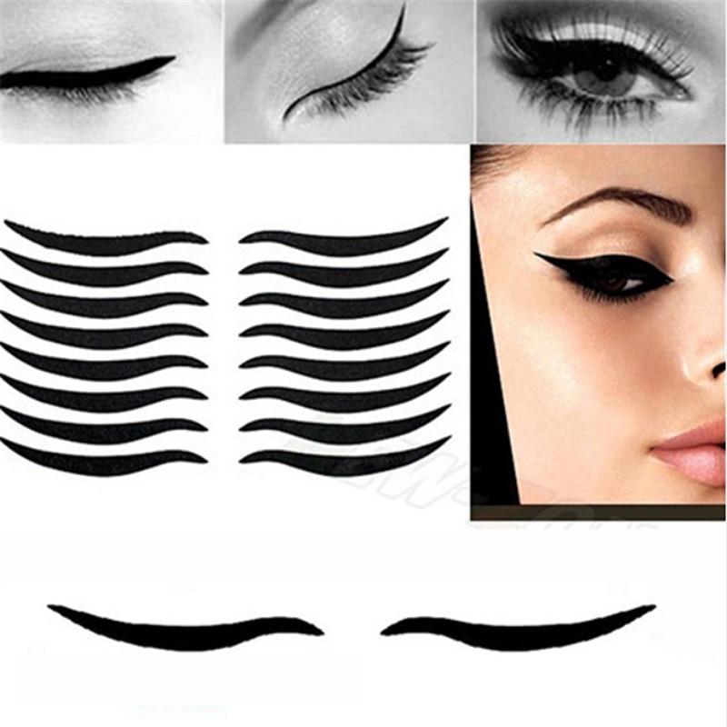 RORASA 160/320 Pcs Eyelid Tool Sexy Cat Style Eyes Sticker Black Eyeliner Tape Beauty Eyeliner Sticker Eye Cosmetic Makeup Tool