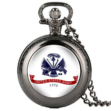 United States Army Fobs Mens Pocket Watch Pattern Arabic Digital Alice in Wonderland Necklace