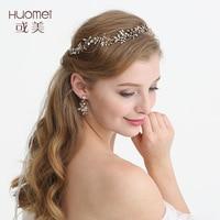 NPASON 2019 Antique Gold Wedding Floral Tiara Bridal Headband Hair Accessories Women Prom Hair Crown Piec D2226