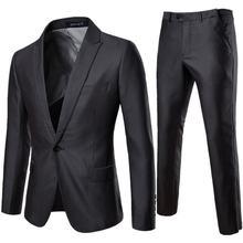 Костюм мужской серого цвета деловой Повседневный брючный костюм