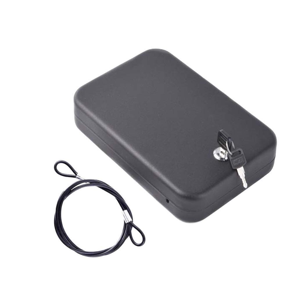 Clés portables combinaison serrure boîte bijoux Protection de l'argent à la maison, voyage, extérieur, etc 2 fils coffre-fort