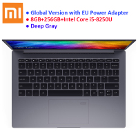 Global Version Xiaomi Mi Notebook Air 13.3 Windows 10 Intel Core i5 8250U 8GB RAM 256GB SSD Fingerprint Dual WiFi Type C EU Plug