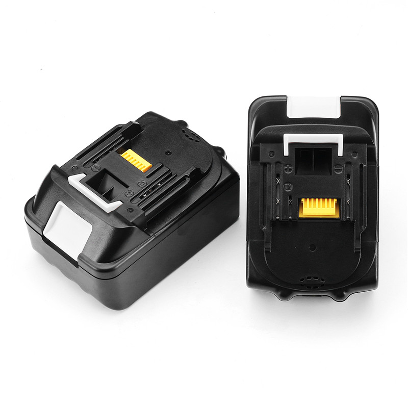 Black MAK-18B-Li 18V Li-Ion 5.0Ah/6.0Ah Battery Replacement Power Tool Battery For Makita BL1850 BL1860 title=