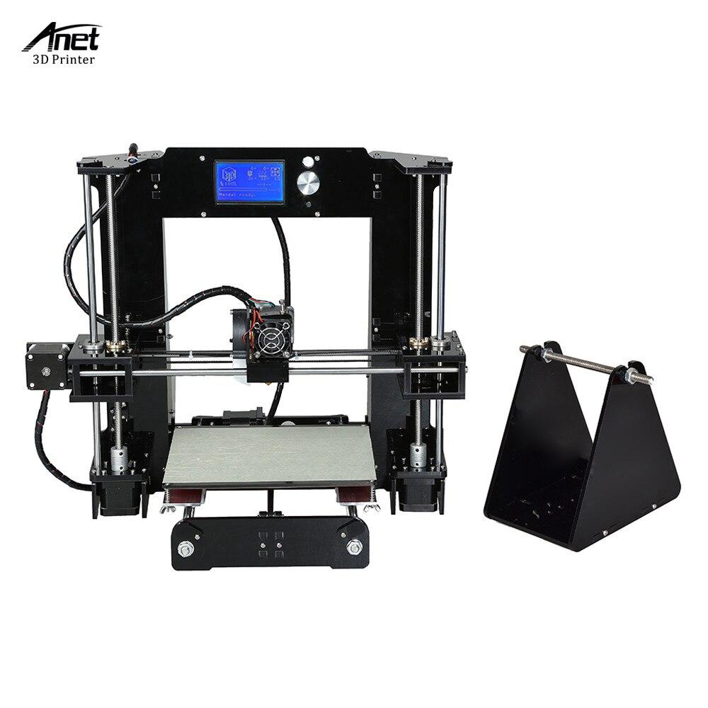 Image 2 - Anet A6 o wysokiej precyzji duży rozmiar pulpitu 3D zestawy do drukarek do samodzielnego montażu ekran LCD z SD o pojemności 16GB drukowanie kart rozmiar 220*220*250mmDrukarki 3D   -