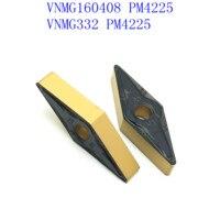 כלי קרביד כלי cnc קרביד VNMG160408 PM4225 אביזרים מכונת כרסום CNC מחרטה CNC, כלי מפנה חיצוני (4)
