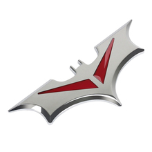 50pcs 3D Car Sticker Bat Auto Batman Badge Chrome Emblem Tail Stickers for VW Polo Passat b5 b6 CC Golf 4 5 6 Jetta mk6 Tiguan