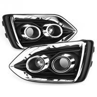 1 пара автомобилей дневного света ходовые огни DRL светодио дный Светодиодный дневной Туман лампа для hyundai Accent 2018 автомобильные аксессуары