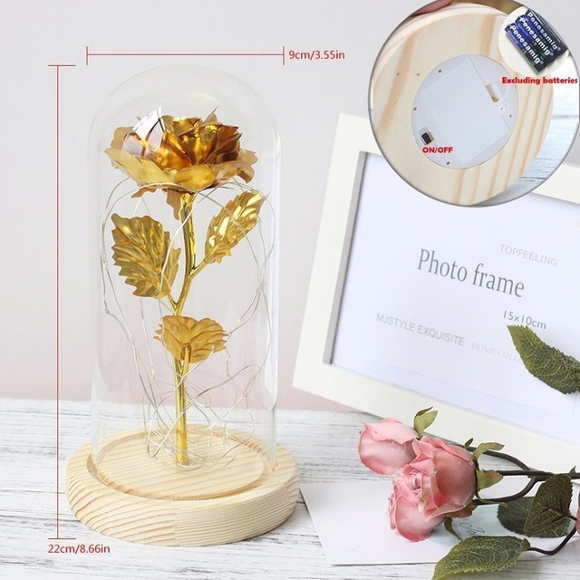Eternity Rose in Glass Dome | LED Lamp 4