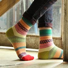 2019 Women Men  Stripe Cotton Socks  Socks Fashion Standard Multi-Color Green, Black, Orange, Pink, Yellow #15