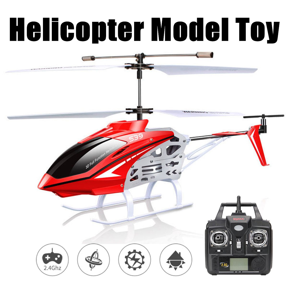 2.4GHz 3CH RC Helicopter Radio Remote Control Flying Helicopters Model Toys Outdoor Aircraft Toys Vehicles Gifts 2 Colors