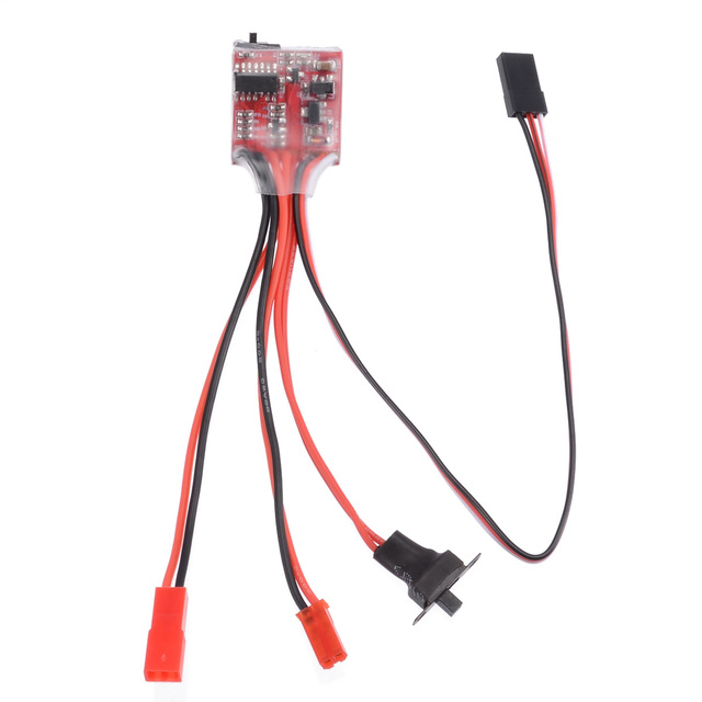 Nueva venta 30A 4-8 V Mini controlador de velocidad eléctrico cepillado ESC cepillo controlador de velocidad de Motor electrónico para RC coche