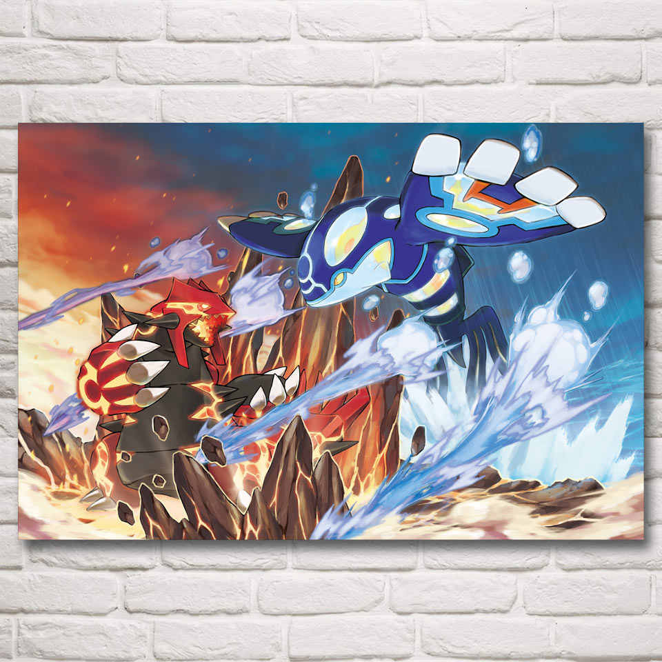 1 Piece Cartoon Wall Stickers Pokemon Pocket Monster Digimon Monster Anime Poster Canvas Paintings for Children Room Wall Decor