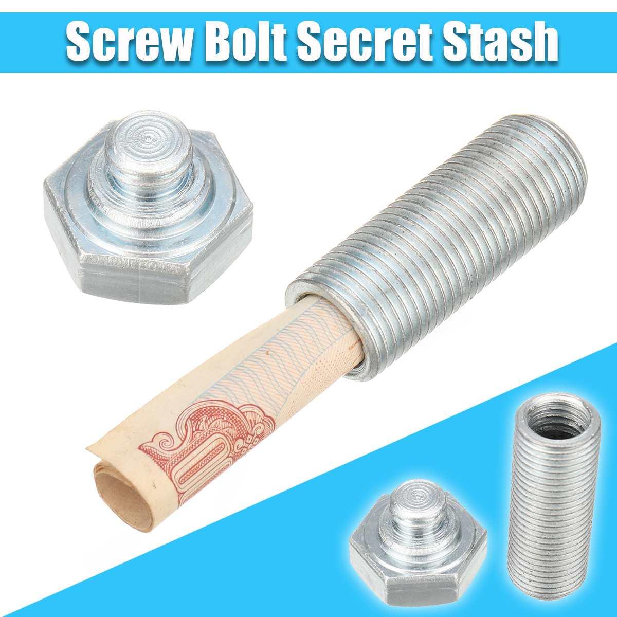 Bolt Nut Screw Pill Box Secret Stash Diversion Cash Money Safe Hiddens Compartment Box For Kid Gift Security Safe