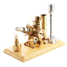 цены One Set Stirling Engine Model Hot Air Stirling Engine Generator Cylinder Engine Model School Education Equipment