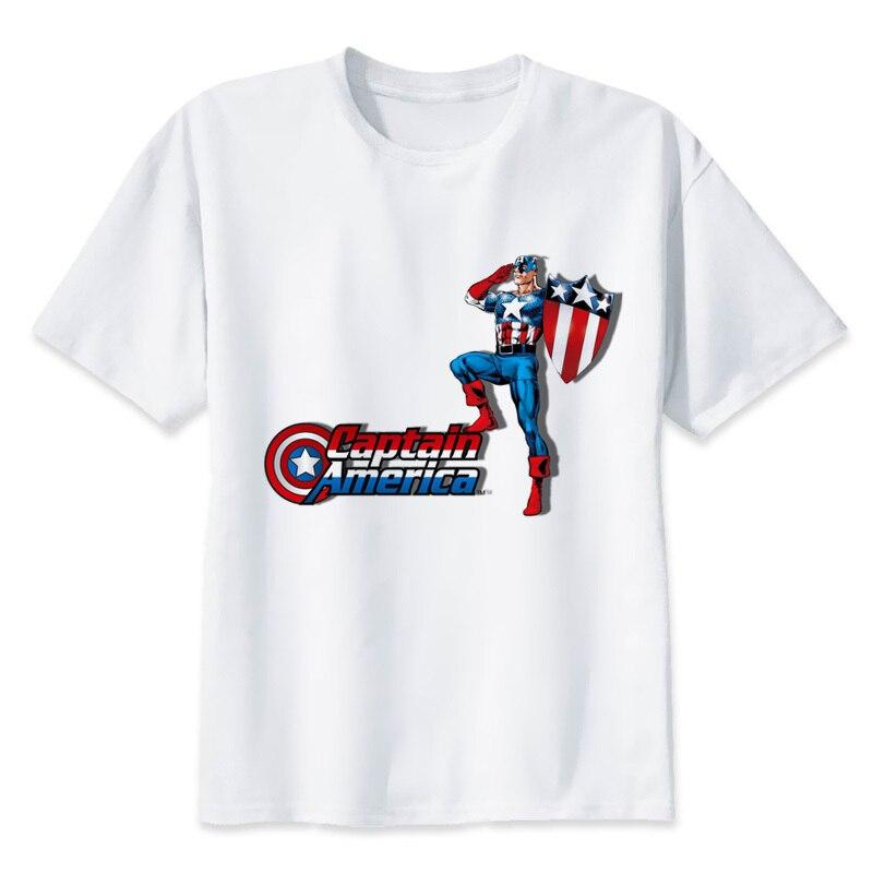 8081a54438e9c0 Капитан Америка распродажа 2019 мужская футболка Новинка развивает Луну  Модальная рубашка harajuku топы Футболка Q1326