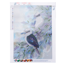 5D DIY Diamond Painting Birds in Tree Branch Embroidery Cross Craft Stitch Kit Home Living Room Wall Painting Decor