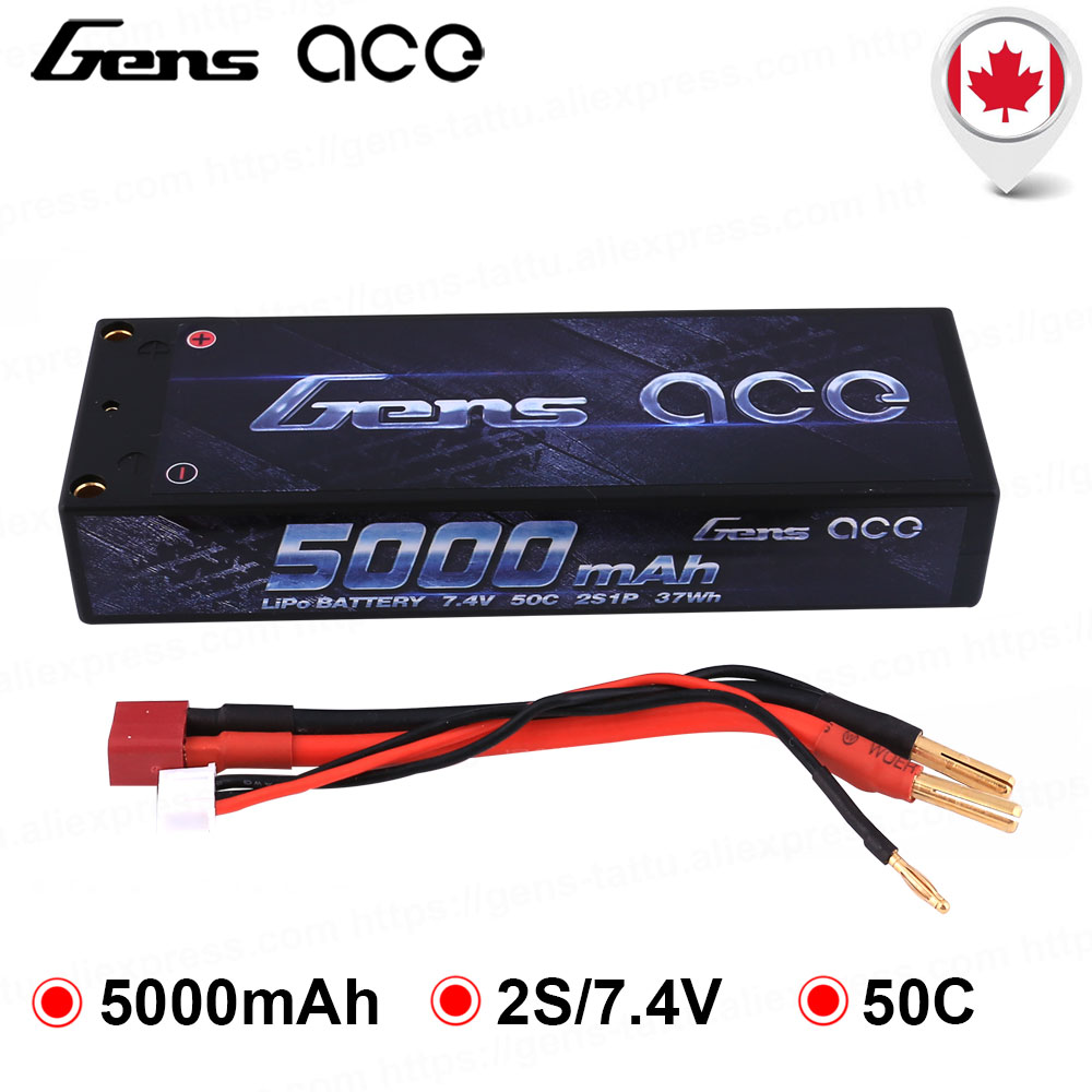 Gens Ace 2S 5000mah 50C Hardcase