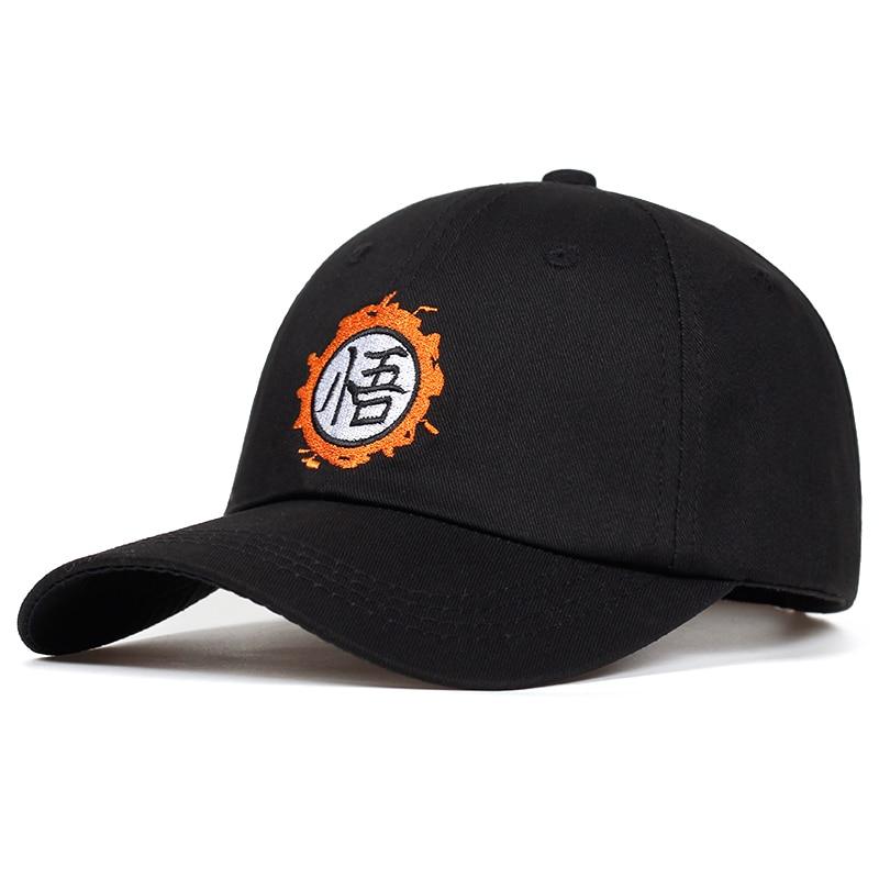 2018 new High Quality Anime Dragon Ball Z /Dragonball Goku dad Hat For Men Women Adjustable Hip Hip cotton   Baseball     Cap