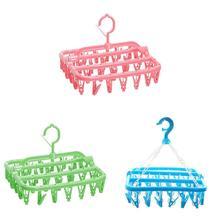 32 зажима Складные носки вешалка для одежды прищепка сушилка для одежды шкаф Органайзер синий/зеленый/розовый