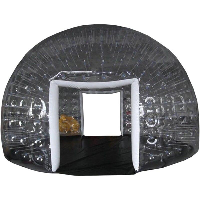 Надувная герметичная палатка для кемпинга, полупрозрачная половина черного пузырчатого домика для отелей, Семейный Кемпинг, реклама на зад... - 6
