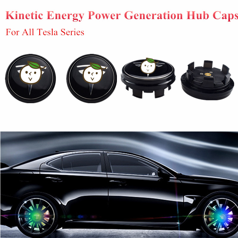 Hospitable 4pcs Car Maglev K Inetic Energy Generation Waterproof Hub Cap Led Light For All Tesla Model 3 X S Floating Illuminate Wheel Cap