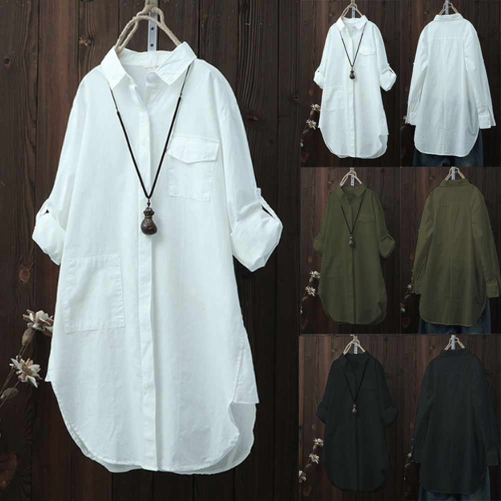 Women Oversized Long Sleeve Tops   Shirt   Casual Loose Boyfriend white   blouse     shirt   office lady   shirts   for women
